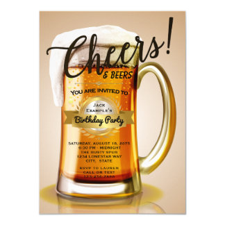 Beer Birthday Invitations
