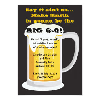 Beer Birthday Party Invitation