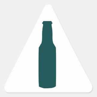 Beer Bottle Triangle Sticker