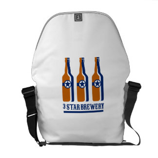 Beer Bottles Star Brewery Retro Courier Bag