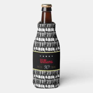 beer-bottles with black label