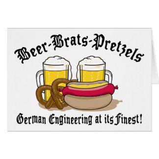 Beer Brats Pretzels German Card