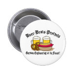 Beer Brats Pretzels German Pinback Button
