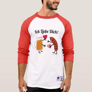 Beer & Bratwurst - Ich Liebe Dich! (I Love You) T-Shirt