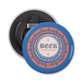 BEER Brew - Bottle Cap Blue/White Bottle Opener