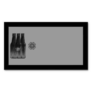 Beer Brew Business Card Magnet Blank Black & White