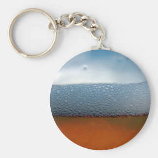Beer brewing bubbles key chain