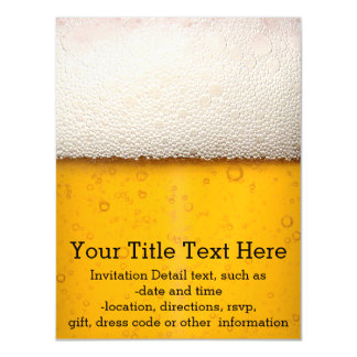 Beer Bubbles Background Pattern Magnetic Invitations
