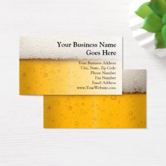 Beer Bubbles Close-Up Bartender Beer Craft Brewery Business Card