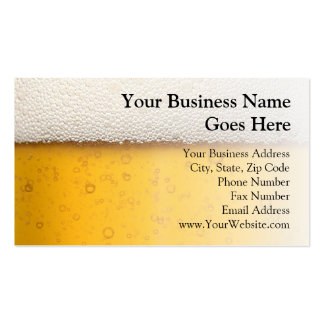 Beer Bubbles Close-Up Pack Of Standard Business Cards
