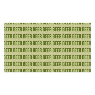 Beer Pack Of Standard Business Cards