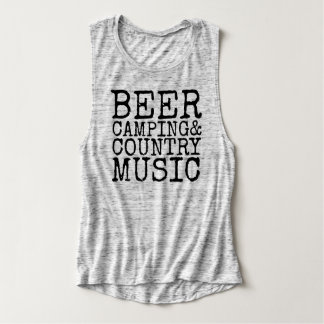 Beer, Camping & Country Music Singlet