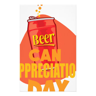 Beer Can Appreciation Day - Appreciation Day Customized Stationery