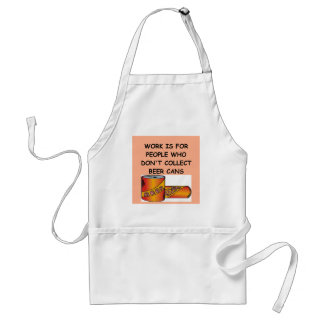 BEER can collector Standard Apron