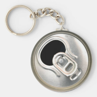beer can top open drink metal container basic round button key ring