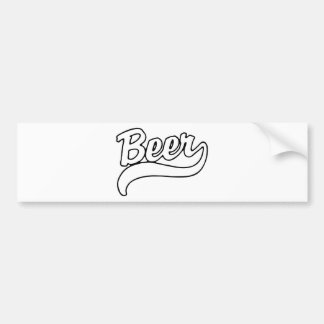 Beer Car Bumper Sticker