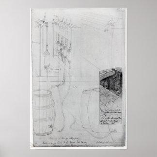 Beer Cellar equipment, 1825 Poster