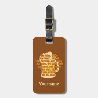 Beer custom luggage tag
