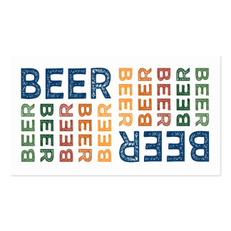 Beer Cute Colorful Business Card Templates