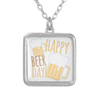 Beer Day Silver Plated Necklace