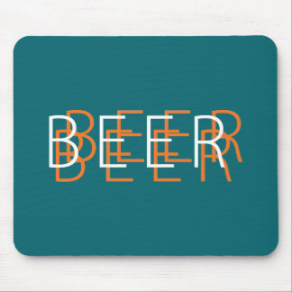 BEER Double Vision - Aqua Blue and Orange Mouse Pad