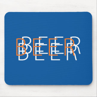 BEER Double Vision - Blue, Orange and White Mouse Pad