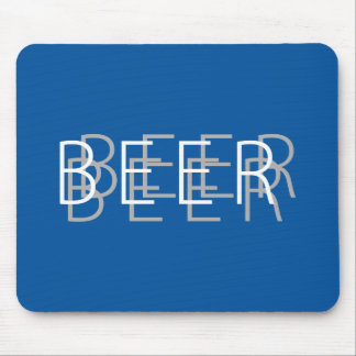 BEER Double Vision - Blue, Silver, White Mouse Pad
