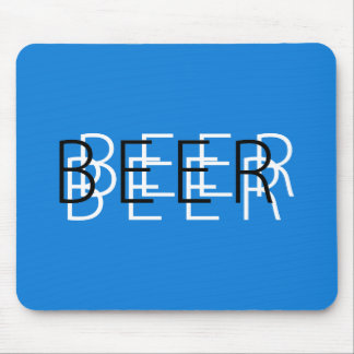 BEER Double Vision - Blue, White and Black Mouse Pad
