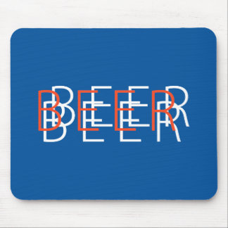 BEER Double Vision - Orange, Blue and White Mouse Pad
