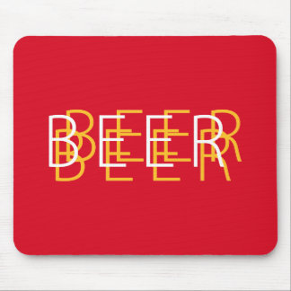 BEER Double Vision - Red and Yellow Mouse Pad