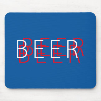 BEER Double Vision - Red White and Blue Mouse Pad