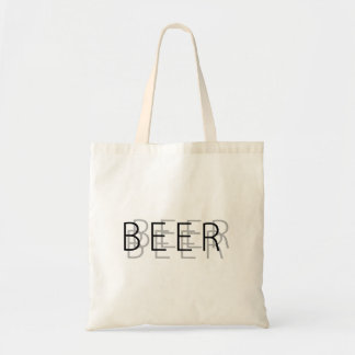 BEER Double Vision - Silver and Black Budget Tote Bag