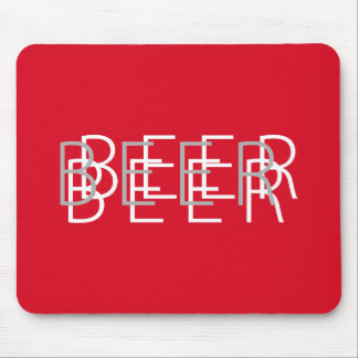 BEER Double Vision - White Mouse Mat