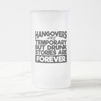 Beer Drinkers Hangover Story Glass Frosted Glass Beer Mug