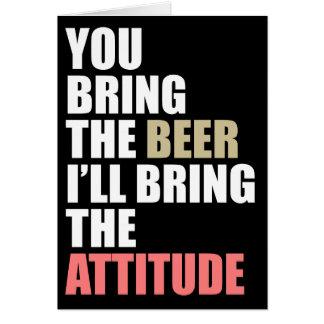 Beer Drinkin' Invite Greeting Card