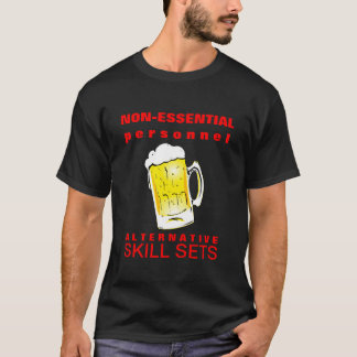 Beer Drinking Furloughed Employee Tshirt