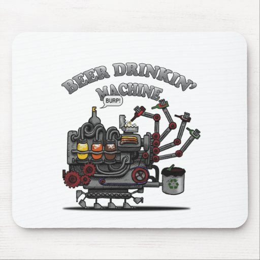 Beer Drinking Machine Mouse Pad