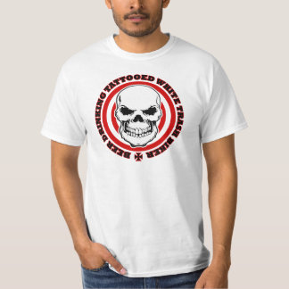 Beer Drinking Tattooed White Trash Biker T-Shirt
