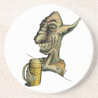 Beer Drinking Troll Coaster