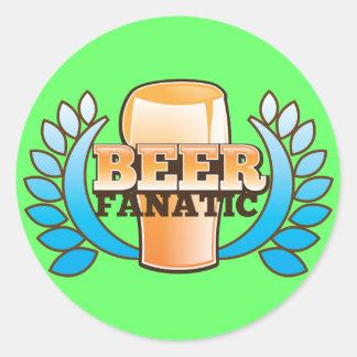 BEER FANATIC design Round Sticker