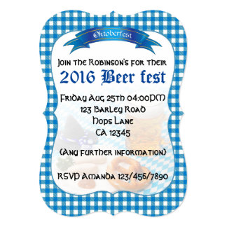 Beer fest Party personalized Card