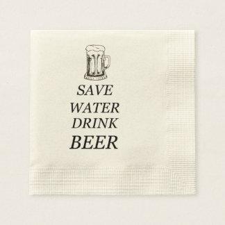 Beer Food Drink Disposable Serviettes