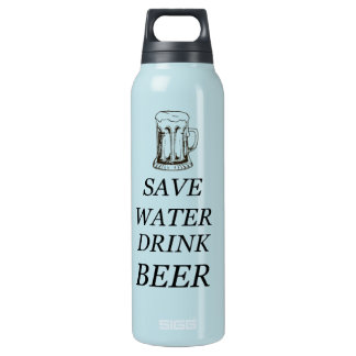 Beer Food Drink Insulated Water Bottle