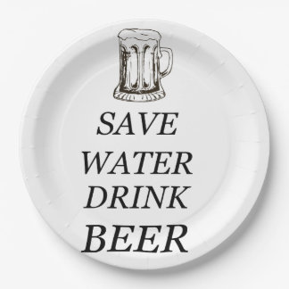 Beer Food Drink Paper Plate
