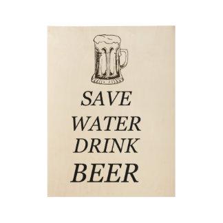 Beer Food Drink Wood Poster