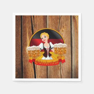 Beer For All Oktoberfest Party Paper Napkins Disposable Serviette