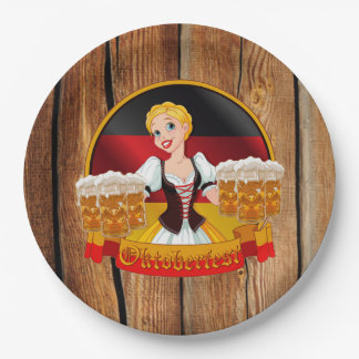 Beer For All Oktoberfest Party Paper Plates