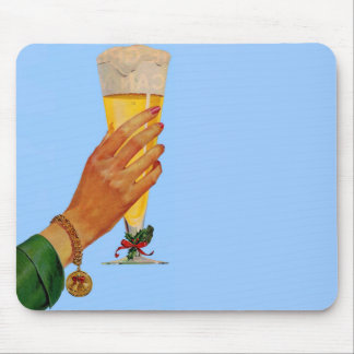 beer for Christmas Mouse Pad