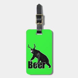 Beer fun luggage tag