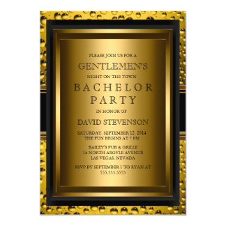 Beer Gentlemen's Bachelor Party Invite